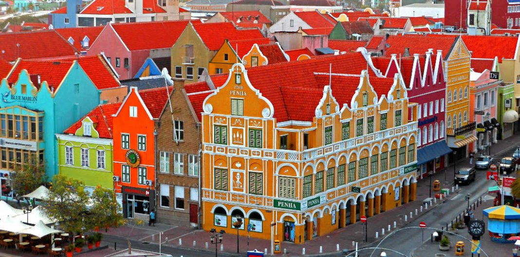 Colorful Architecture in Willemstad, Curacao