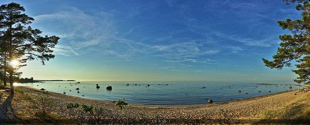 Beautiful Sunset on Estonian Beach