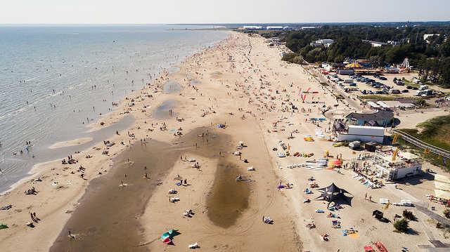 Parnu Beach Aerial View