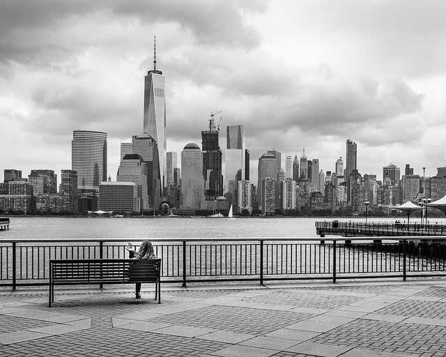 View of Downtown Manhattan from the Exchange Place, Jersey City