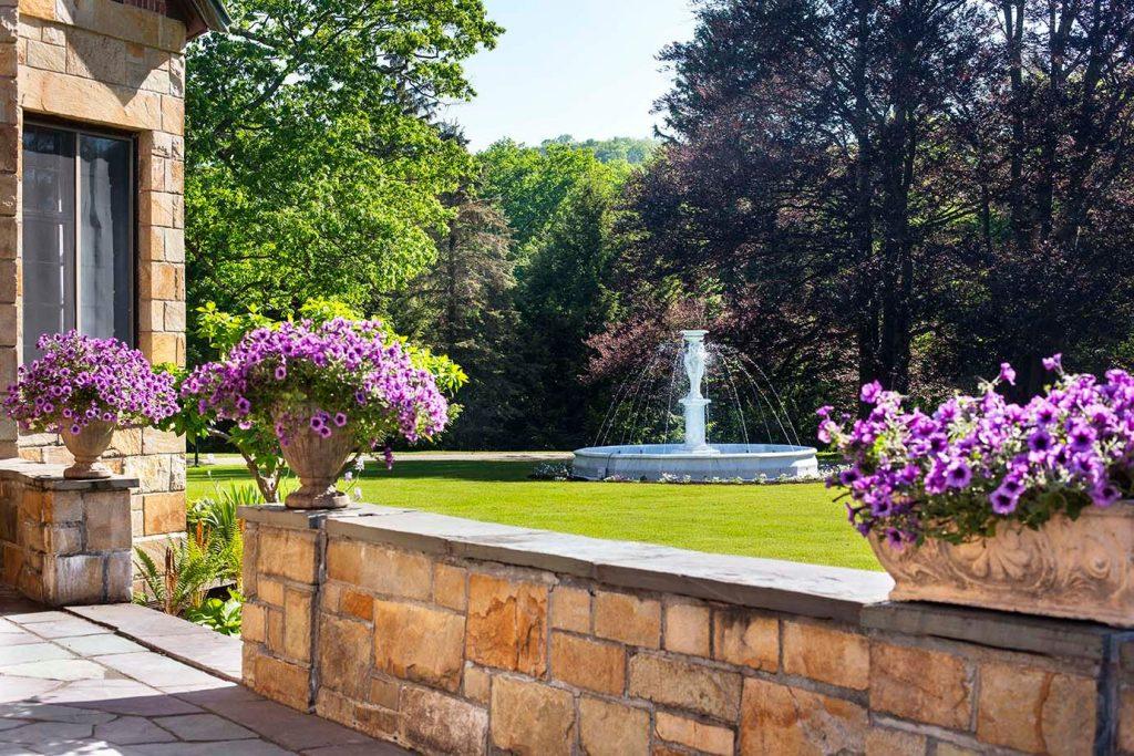 The terrace fountain