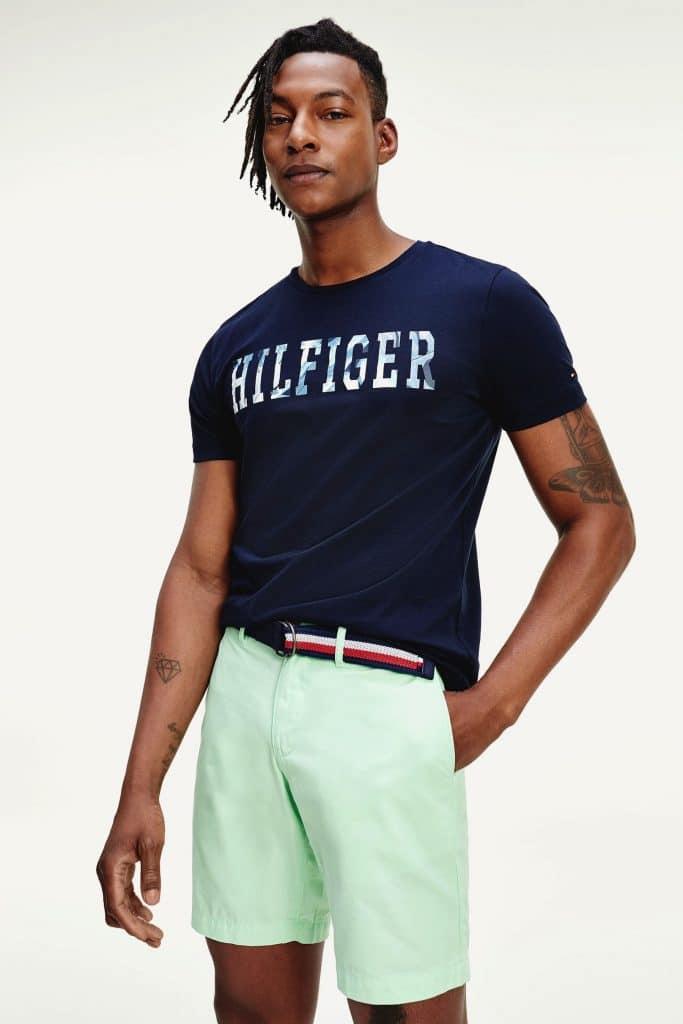 Tommy Hilfiger Blue Branded Floral T-Shirt