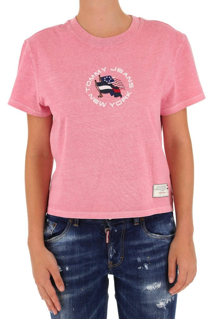 Tommy Hilfiger T-shirt For Women, Candy Pink, Cotton