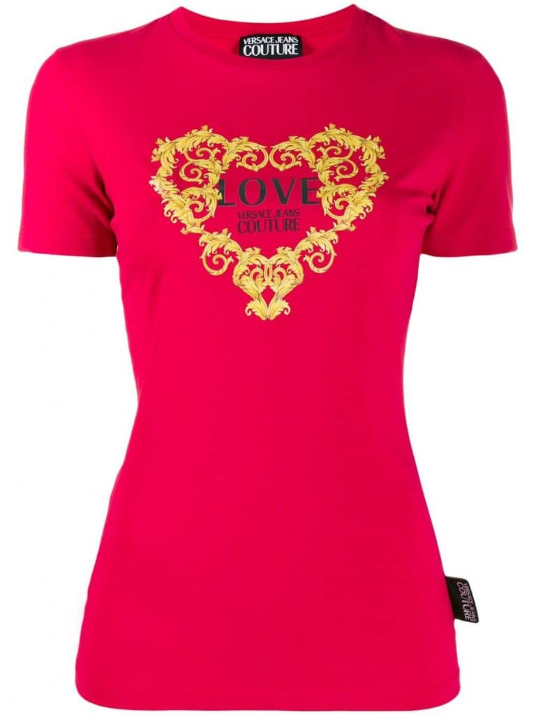 Baroque Heart Logo Printed T-shirt