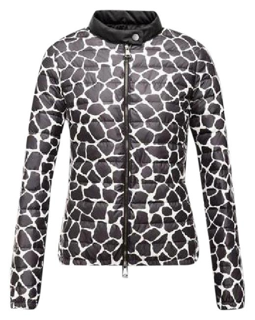 Black White Duras Giraffe Down Feather Puffer Parka Jacket