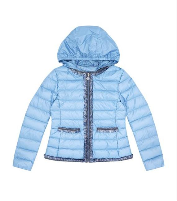 Blue Little Kid Kamaria Ruffle Puffer Jacket