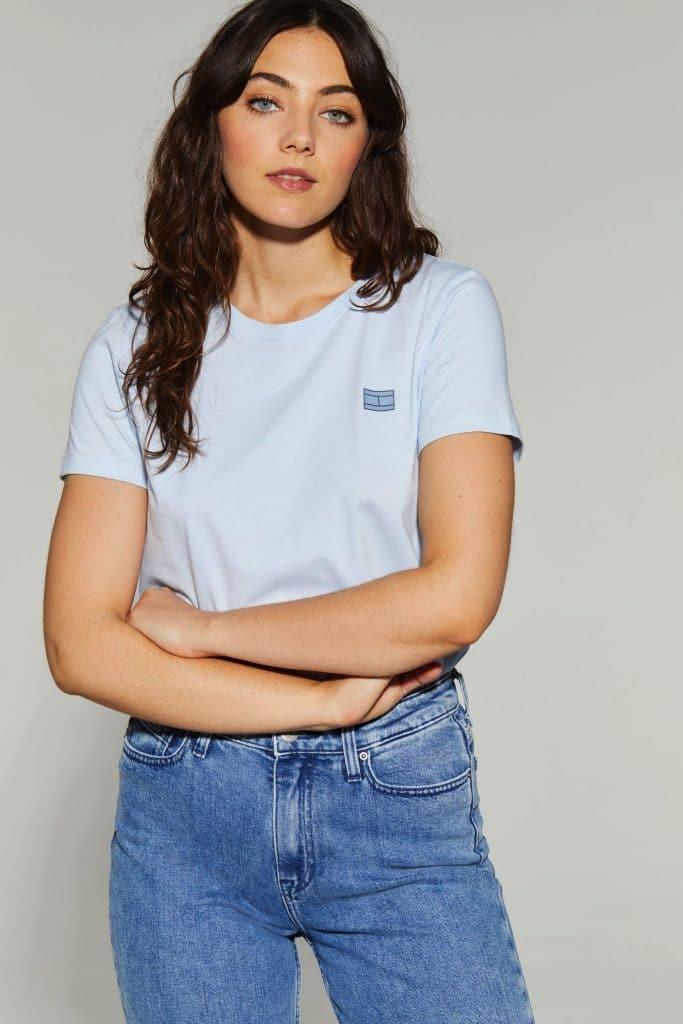 Blue Cindy Flag T-Shirt: