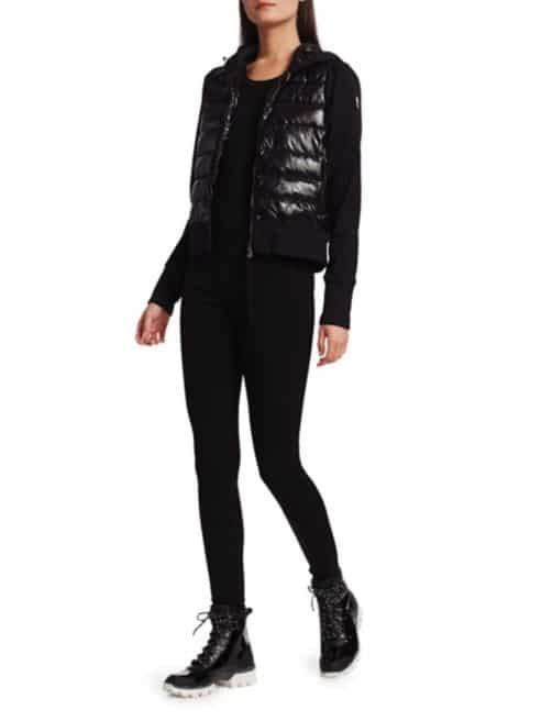 Laque Down Puffer-Front Jacket