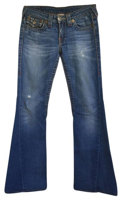 Denim Distressed Joey Flare Leg Jeans