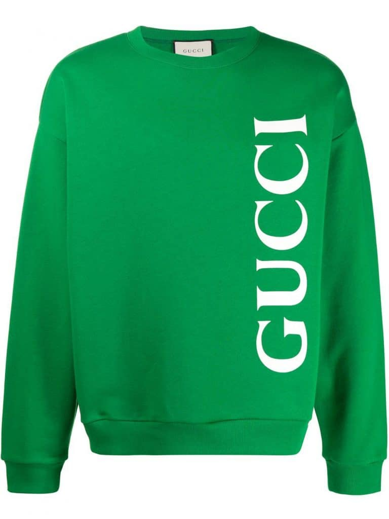 Gucci Men's Green Sweatshirt with Print