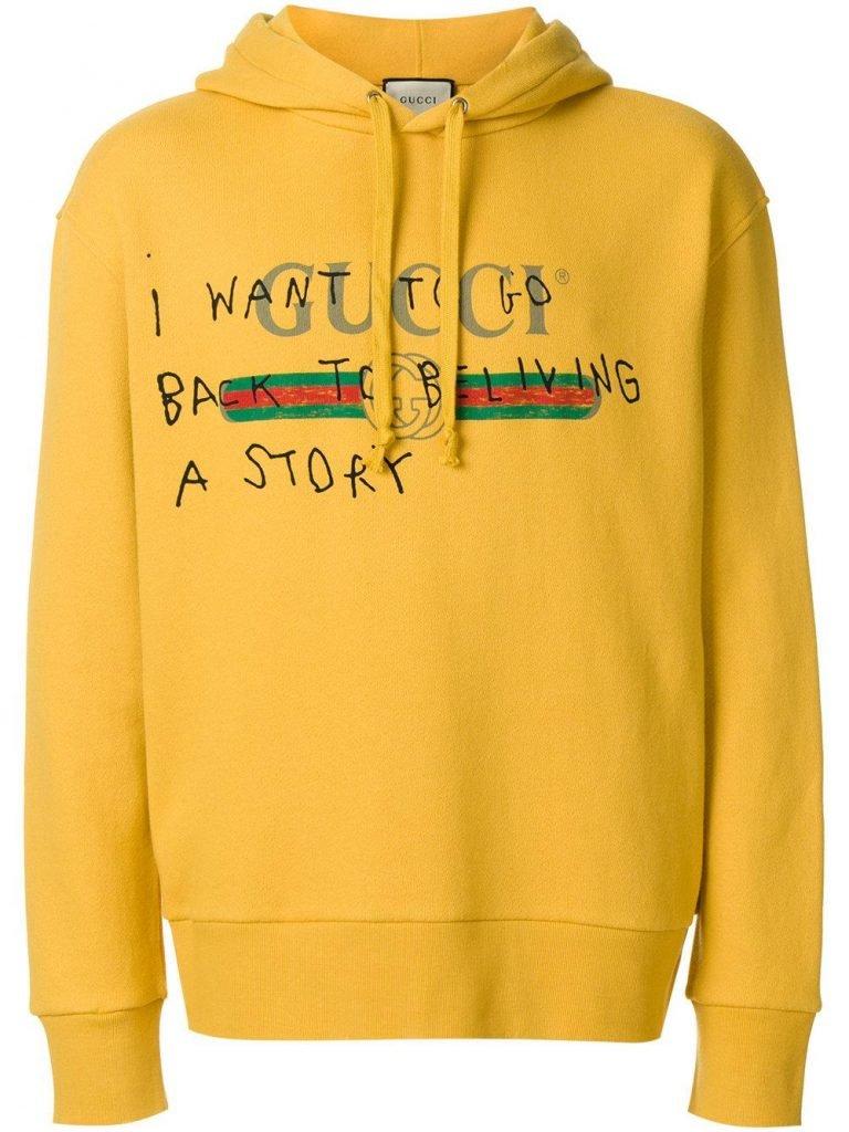 Gucci Men's Yellow Sweatshirt