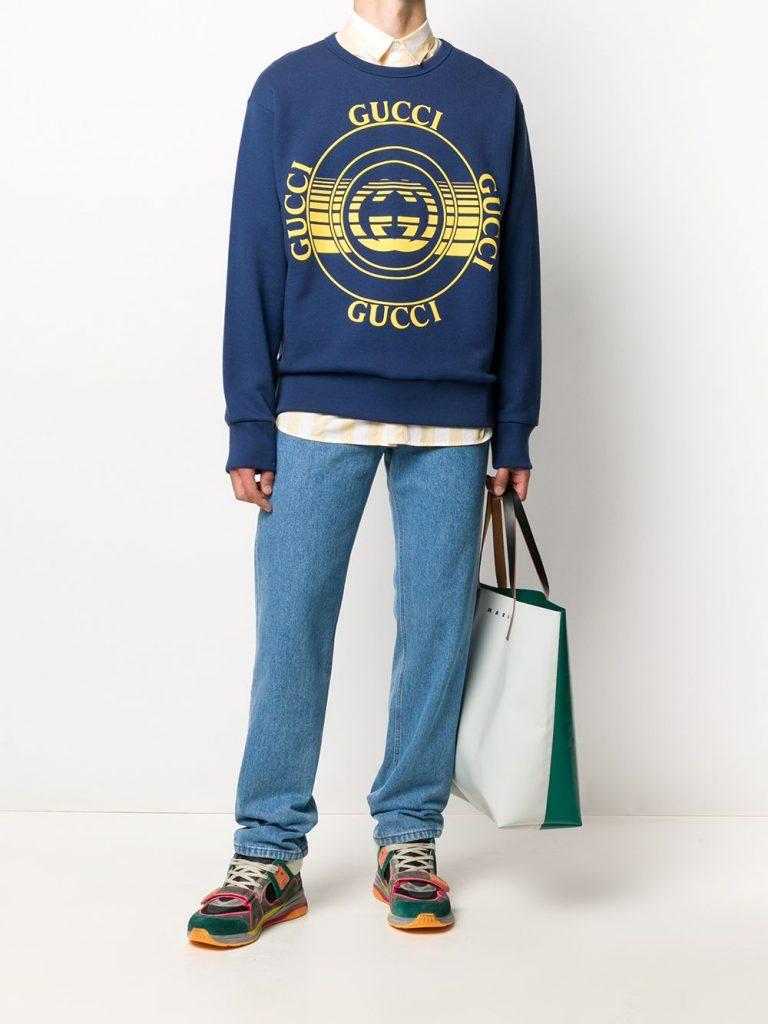 Interlocking G Logo Print Sweatshirt