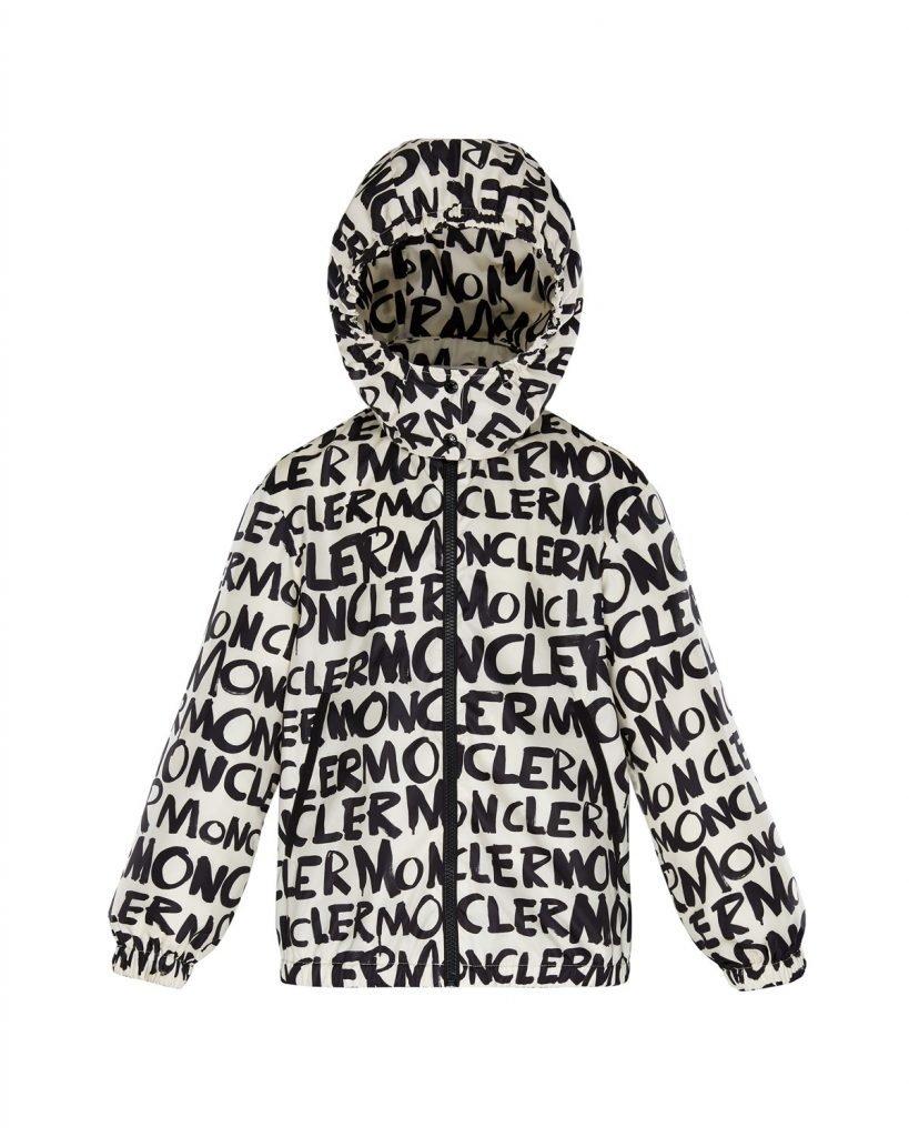 Logo Printed Nylon Hooded Jacket