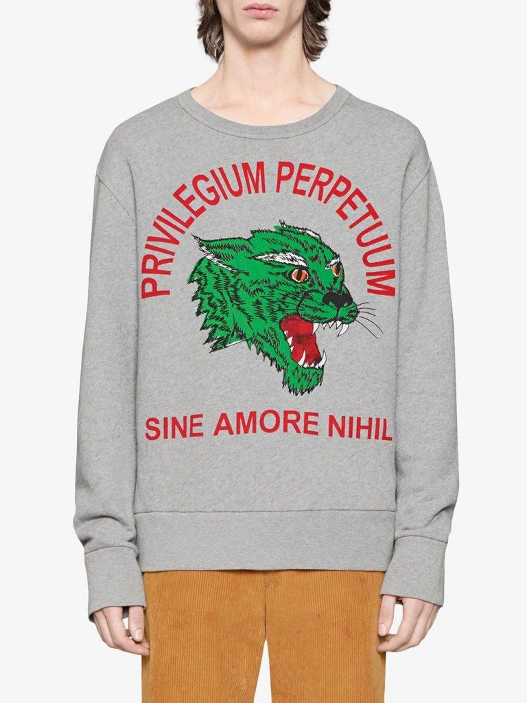 Panther Face Cotton Sweatshirt