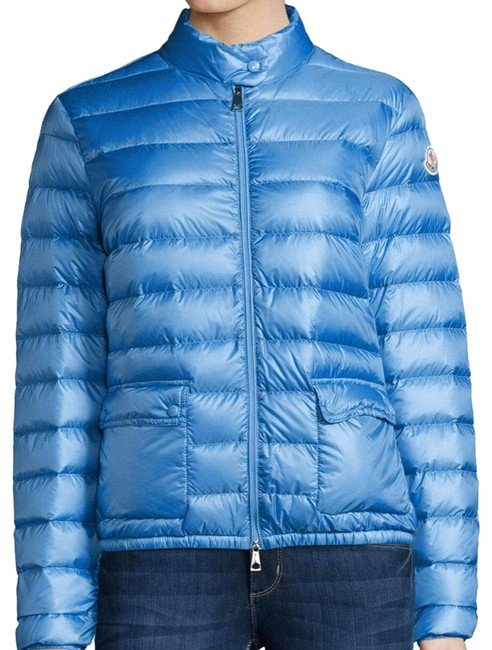 Sky Blue Lans Collared Down Jacket