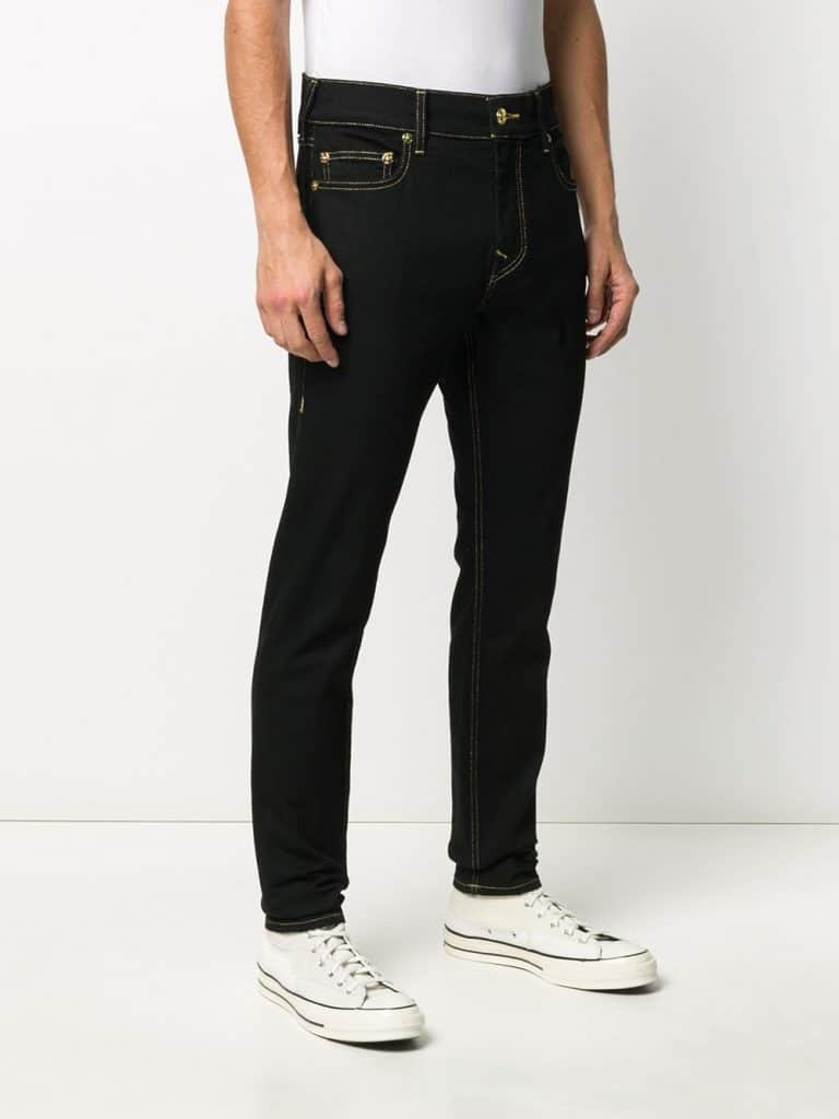 True Religion Stitching-detail Slim-fit Jeans - Black