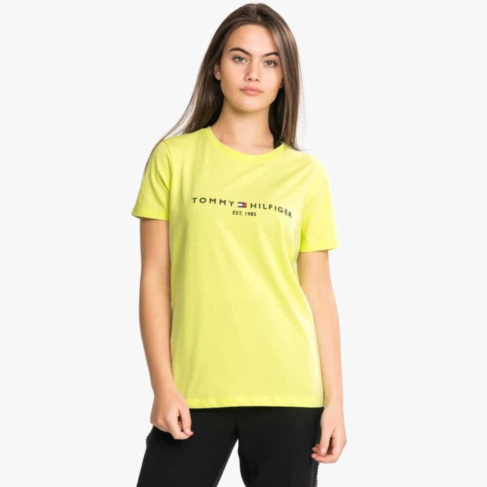 Women's Yellow New Th Ess Hilfiger T Shirt