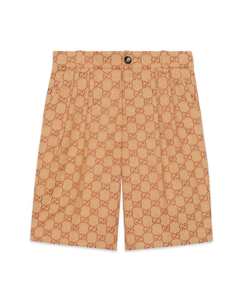 Boy's Allover GG Canvas Jacquard Shorts