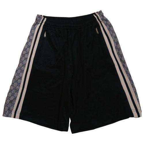 Men Black Cotton Shorts