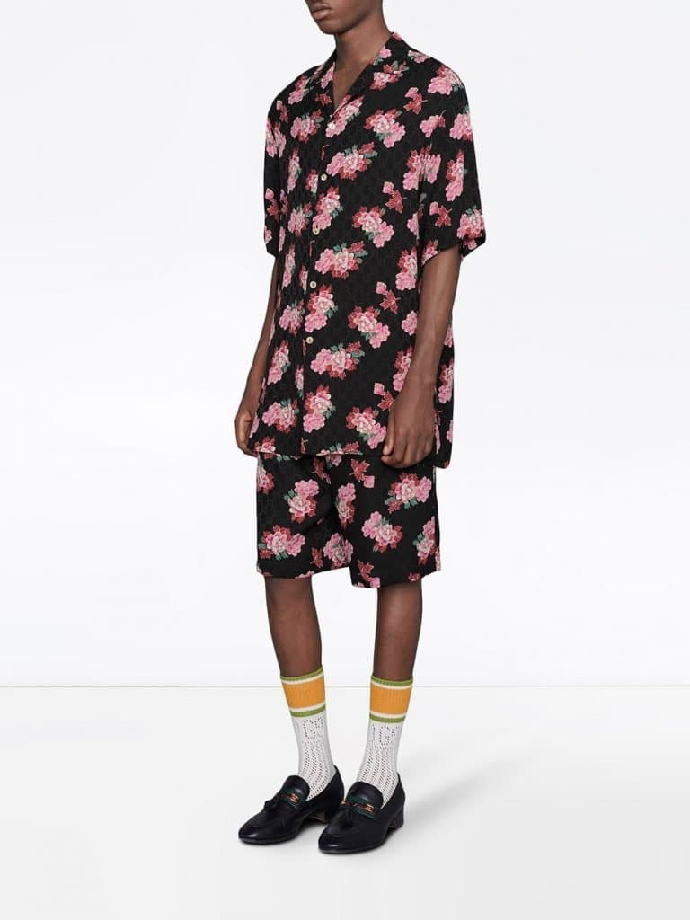 Floral Print Knee-Length Shorts