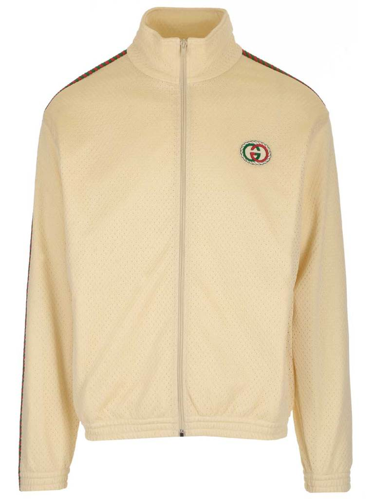 Gucci Men's Natural Zip Up Jacket