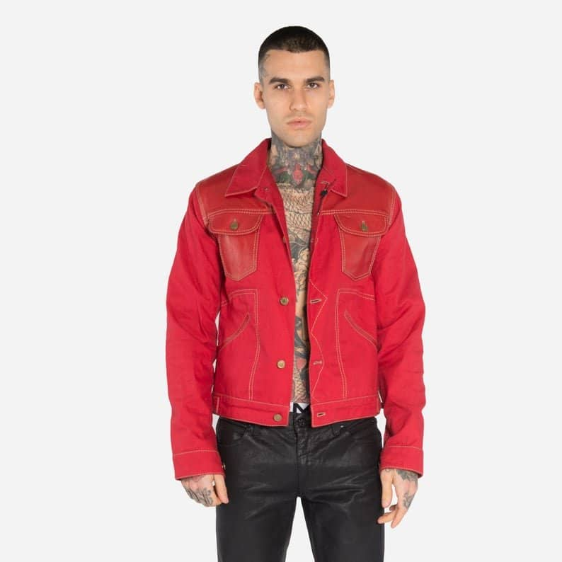 Gucci Red Denim Jacket