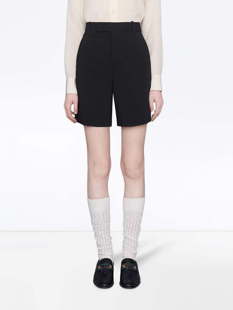 High-waisted Black Shorts
