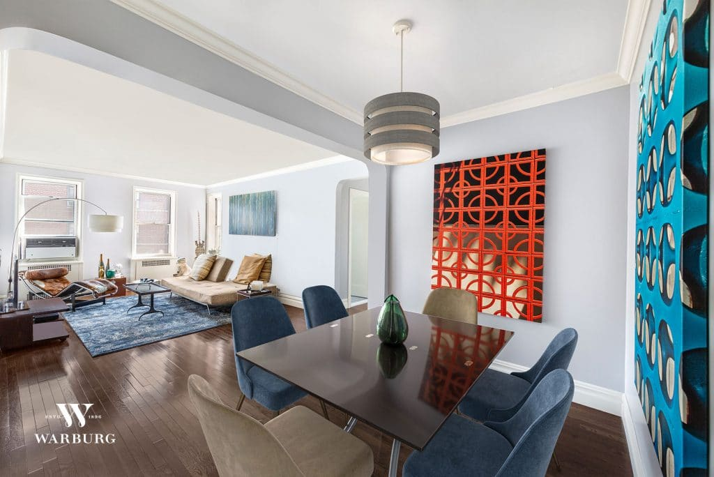Living and Dining Area/ 73-12 35 Avenue, Apt C64, Jackson Heights, NY/ Warburg Realty