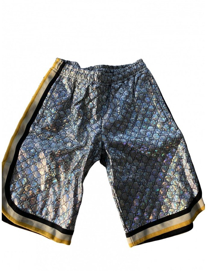 Silver Synthetic Shorts