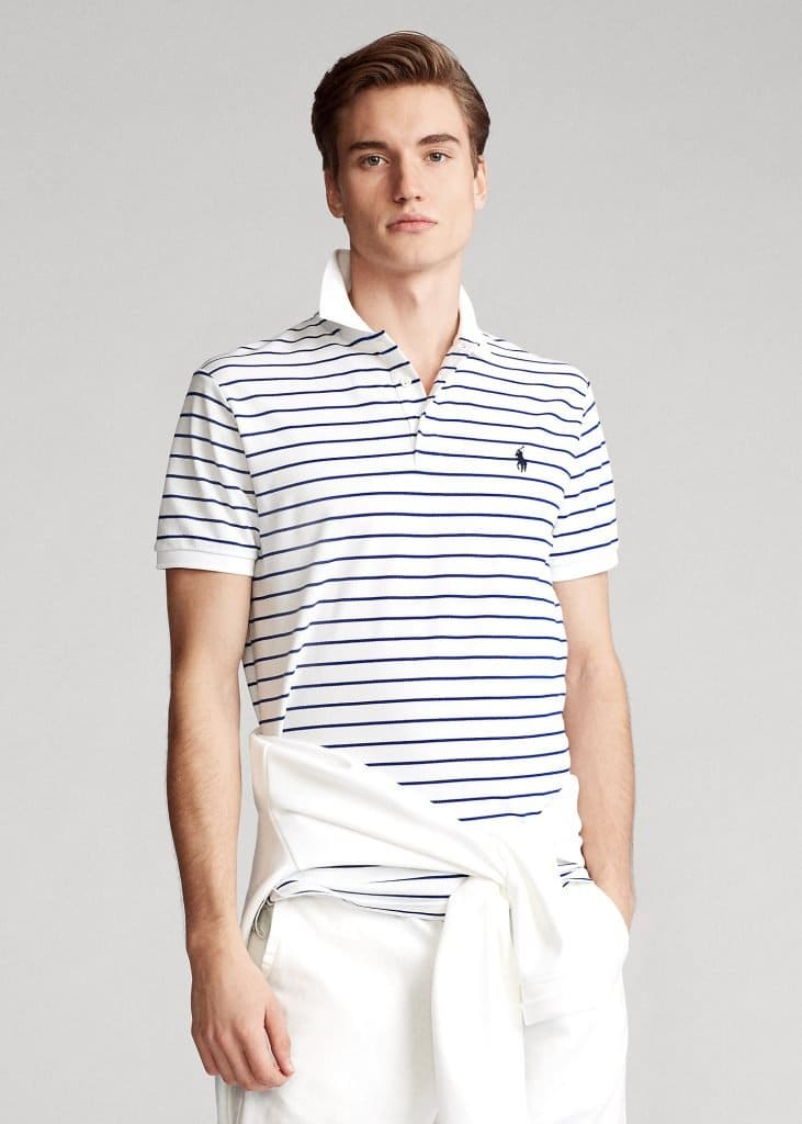 Ralph Lauren Mesh Polo White