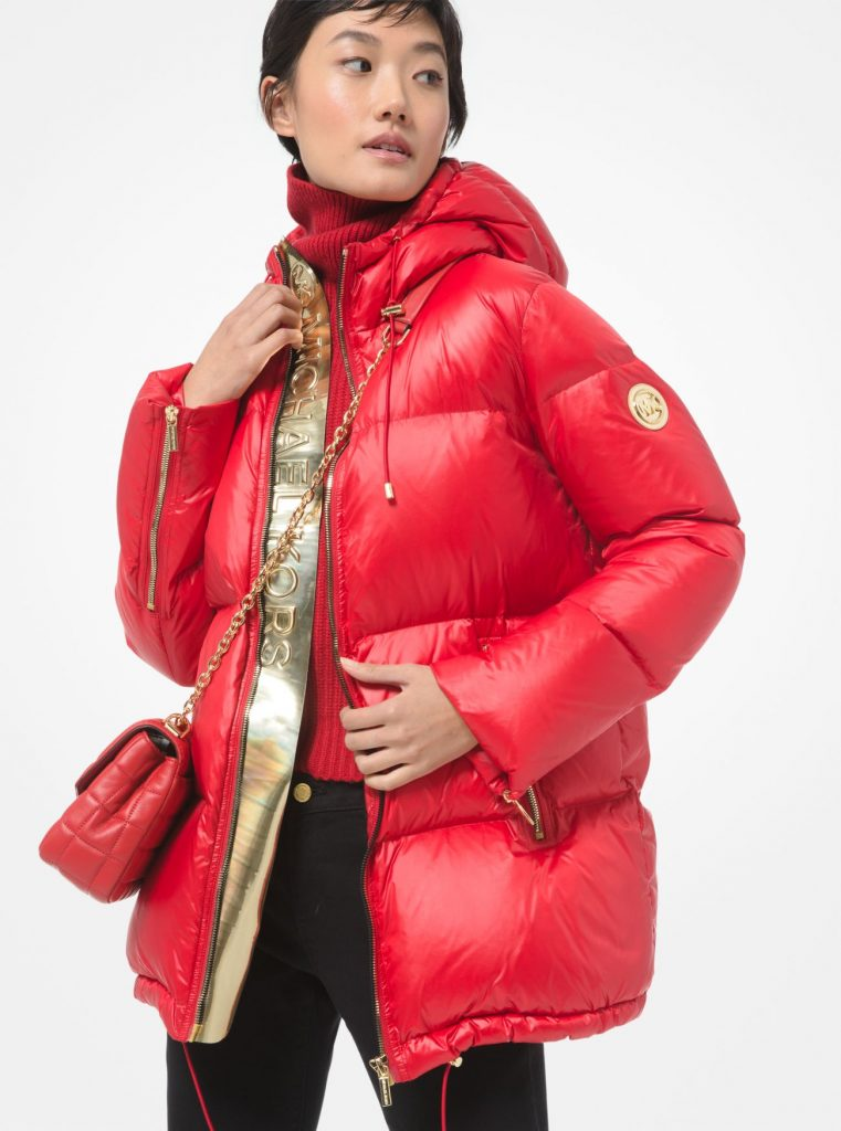 A Quilted Nylon Puffer Jacket