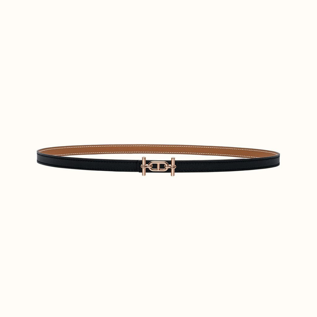 Ancre Belt Buckle & Reversible leather strap 13 mm