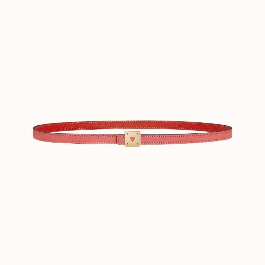 As de Coeur Belt Buckle & Reversible Leather Strap 13 mm