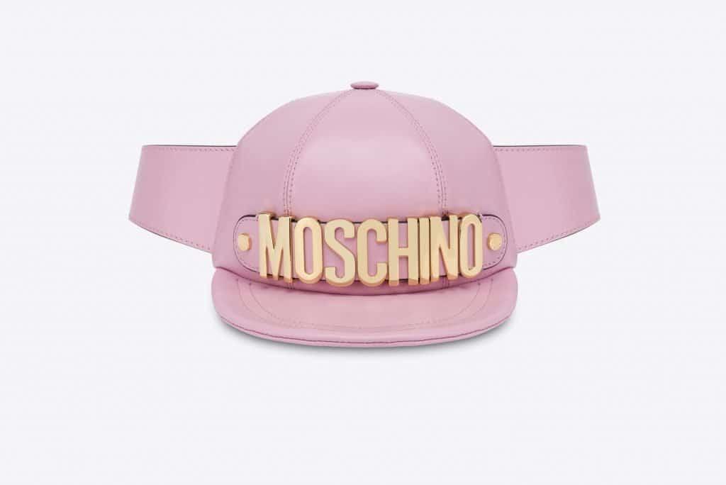 Moschino Calfskin Waist Bag Hat
