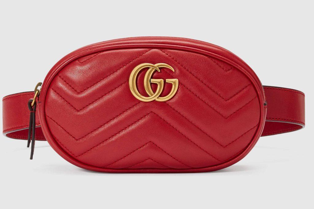 Gucci Red Leather Belt Bag