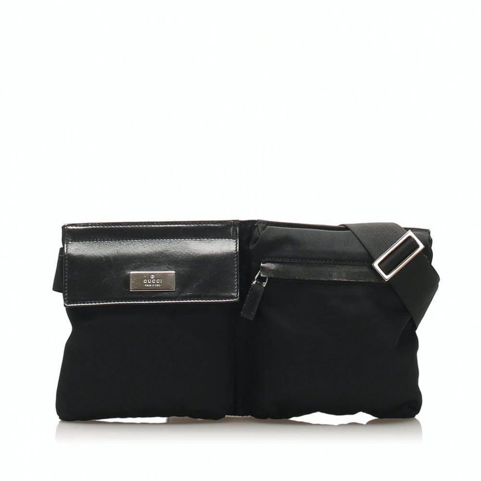 Gucci black cloth bumbag,