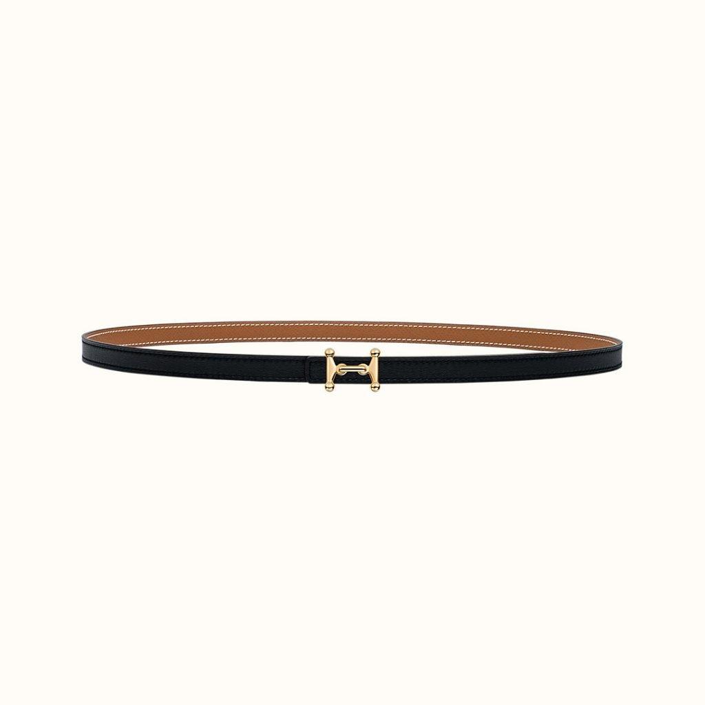 Mini Mors H Belt Buckle & Reversible Leather Strap 13 mm
