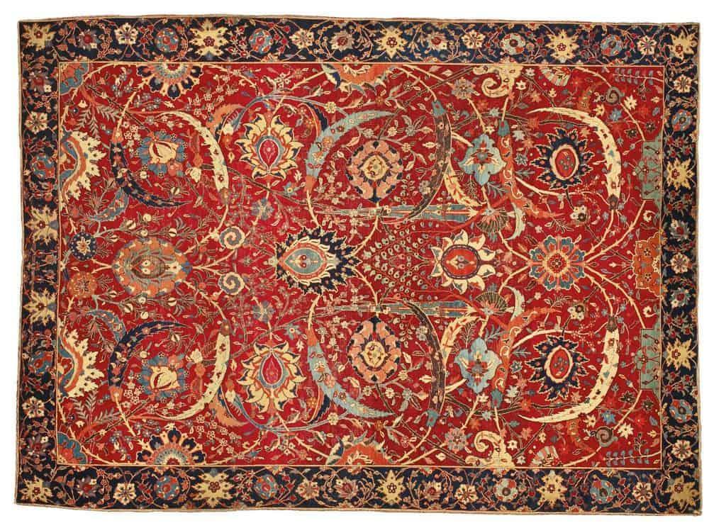 Clark Sickle-Leaf Carpet, 17th Century Antique Persian Carpet