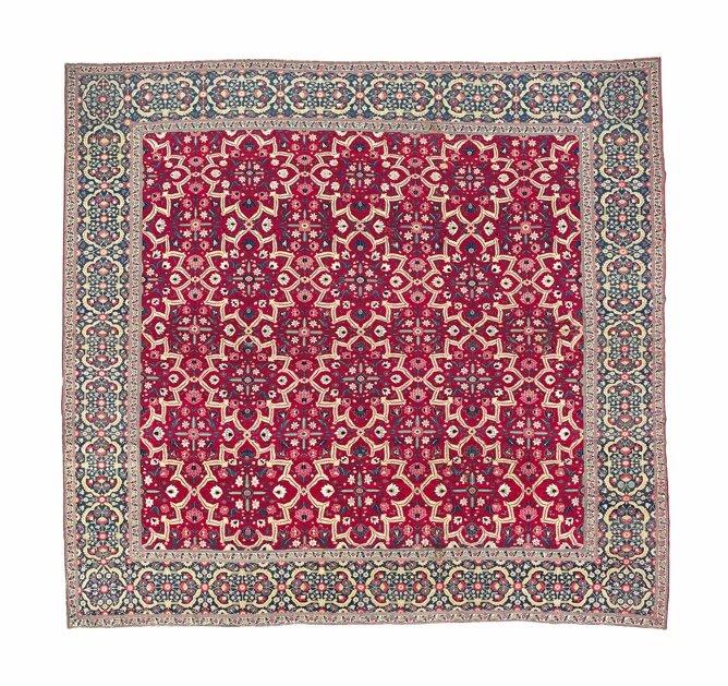 Mughal 'Star Lattice' Carpet, 18th Century