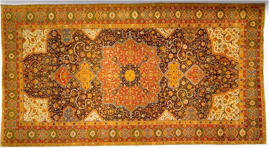 Rothschild Tabriz Medallion Carpet, 17th Century