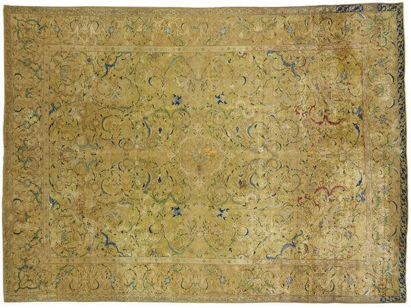 Silk Isfahan Rug, 17th Century
