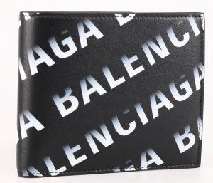 Balenciaga Gradient Logo Print Bifold Walle