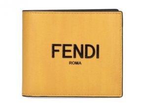 Fendi Logo Bifold Wallet