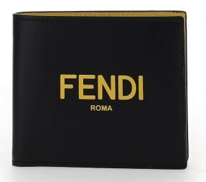 Fendi Roma Lettering Bifold Wallet