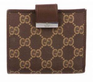 GG Canvas Canvas Compact Wallet