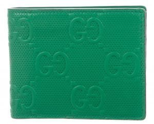 GG Signature Leather Bifold Wallet