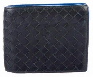 Intrecciato Weave Leather Wallet