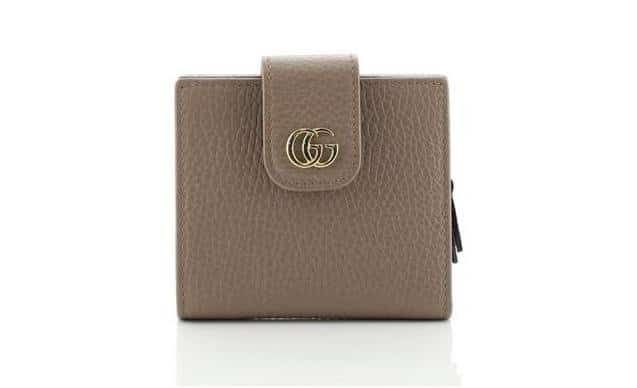 Neutral Marmont Gg Leather Compact Wallet