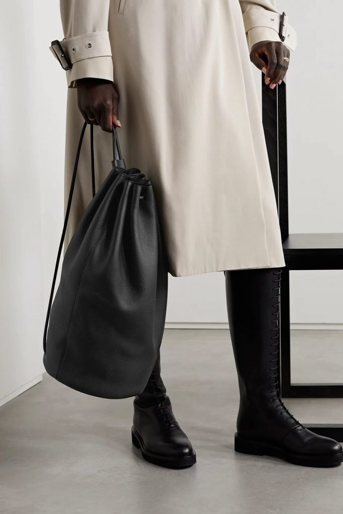 Massimo Textured-Leather Backpack