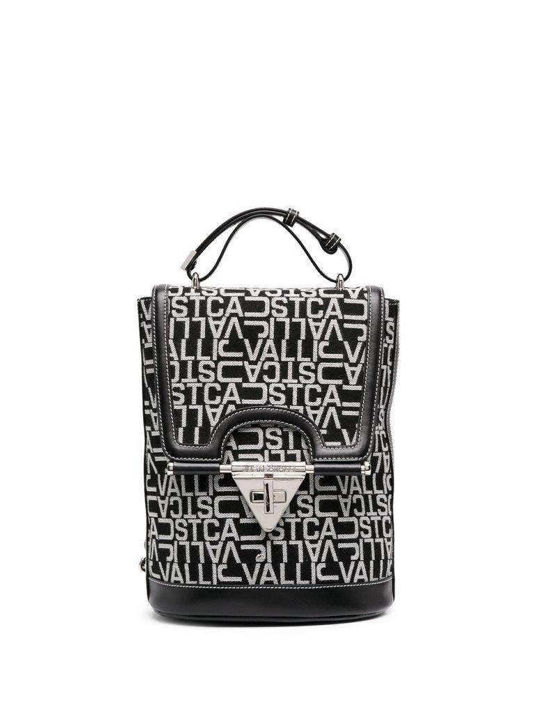 Monogram-print backpack